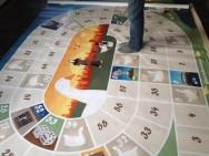 Levend ganzenbord speelzeil foto 2
